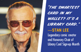 Portion of Stan Lee bookmark