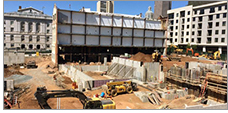 Construction at UConn's downtown Hartford campus site