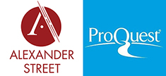 Alexander Street Press and ProQuest logos