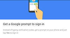 Get a Google prompt to sign in