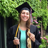 University of Puget Sound graduate wearing library cords