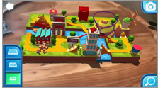 Screenshot from Thomas and Friends Minis AR game