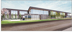 This rendering, submitted as part of an application for zoning approval by the Frontenac Planning and Zoning Commission, depicts the proposed St. Louis County Library Administration and Genealogy Building