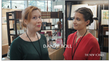 """Two booksellers discuss the term """"dandy roll"""" in a screenshot from D. W. Young's short film """"A Body of Language."""""""